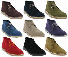 Roamers Desert 2 Eye Suede Leather Womens Unisex Classic Lace Up Boots UK 3-8