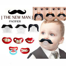 Baby Funny Dummy Prank Pacifier Novelty Teeth Children Lip Soother Nipple Cute