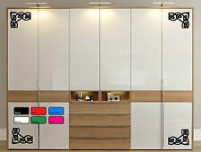 Wardrobe Refreshing Vinyl  Decal Sticker Home Glass Mirror Windows Doors Kitchen