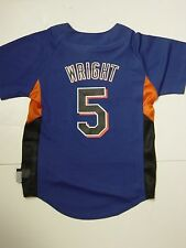 NEW Kids Youth MAJESTIC Cool Base NY METS MLB DAVID WRIGHT #5 Baseball Jersey