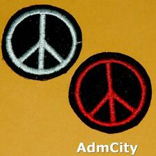 1 Anti War Peace Sign Symbol Hippie Retro Applique Iron on Sew Patch Biker Punk