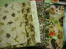 Brown Fun Flannel Fabrics Belly Bands Pad Holder Male Dog Carol's Crate Covers