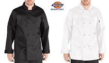 Dickies Chef 8 Button Chef Coat long Sleeve Coat DC118 Unisex MEN WOMEN NWT