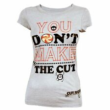 Womens You Don't Make The Cut T Shirt Grey Cut the Rope Licensed NEW