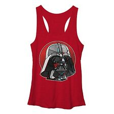 Star Wars Stained Glass Darth Vader Red Workout Juniors Tank Top Shirt