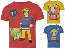 L@@K ~ Character Fireman Sam T Shirt Infants Cotton Top All sizes 1- 8 Years