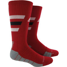 1 Pair adidas Men's Team Speed Traxion Red/White/Black Crew Socks size choices *