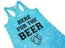 St Patricks Day Party Here For the Beer Funny Cute Women's Beer Tank Top Vest