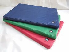 Tough Waterproof Dog Bed-Mat-Cushion Brown Maroon Green Navy Red
