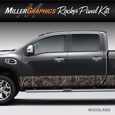 "Camo ""Woodland"" Rocker Panel Graphic Decal Wrap Kit Truck SUV - 12"" x 24 feet"