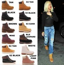 LADIES WOMENS LACE UP ANKLE BOOTS CASUAL RUBBER GRIP GIRLS FASHION SHOES SIZE