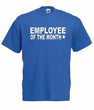 EMPLOYEE OF MONTH funny party christmas birthday gift ideas boys girls T SHIRT