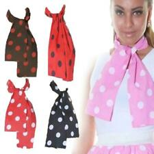 Womens Polka Dot 50's 60's Jive Rock n Roll Grease Neck Tie Scarf Head Pink Lady
