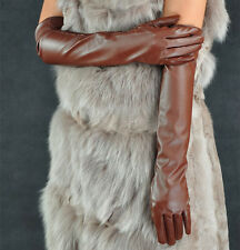 Womens Ladies Fashion Opera Evening Party Faux Leather PU Over Elbow Long Gloves