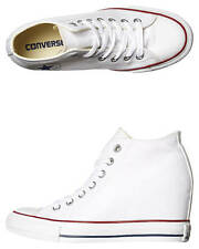 New Converse Women's Chuck Taylor All Star Lux Mid Wedge Women's Shoes White