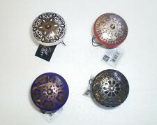 Ceramic Bottle/Wine Toppers/Stoppers w/Metal Detail NWT