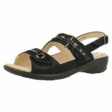 Padders Patience Black Sandals E Fitting