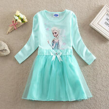 2015 Frozen Queen Princess anna elsa Dress Girls Birthday Gifts Kid Summer Dress