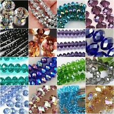 New Multi-Color Crystal Gemstone Loose Beads 4x6mm 6x8mm Free Ship