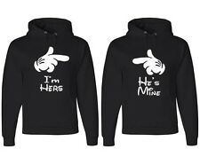 I'm Her's, He's Mine, Couple Matching Hoodies Mickey Minnie Matching Sweater Set