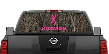 Browning Hunting Camouflage (Pink) Rear Window Decal Graphic for Truck SUV Van