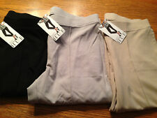 (NWT) $44 Hue Womens Sleek Ponte Skimmer Leggings with front seam detail