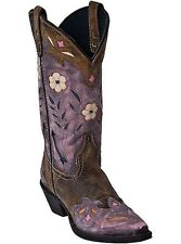Laredo Western Boots Womens Miss Kate Arrow Cowboy Tan Pink 52137
