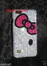 3D hello kitty pink bow iPhone 6 PLUS 6 5C 5S crystals case bling diamond cover