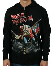 Licensed IRON MAIDEN The Trooper Black Sweatshirt Zip Up Hoodie