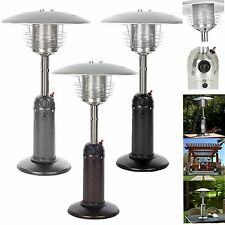 Stainless Steel Tabletop Garden Patio Heater Hammered Bronze, Silver, Black