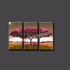 Cheap Modern Wall Art Painting Canvas Prints Red Tree Painting Unframed for Home