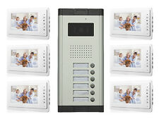 Apartment Wired Video Door Phone Audio Visual Intercom Entry System 2-12 Unit