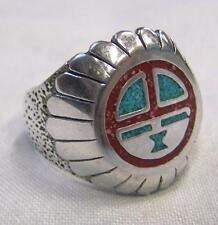 HOPI INDIAN SUN style SILVER BIKER RING #BR99R mens jewelry RINGS HEAVY  womens