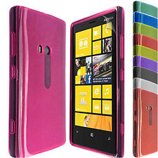 SOFT SILICONE TRANSPARENT PHONE CASE COVER FOR NOKIA LUMIA 920 +SCREEN PROTECTOR