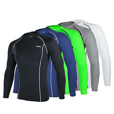 Mens Cycling Jersey Bike Long Sleeve Clothing Bicycle Tops Breathable Tights