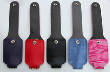 3oz ounce leatherette mace pepper spray holster with belt clip