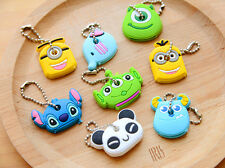 NEW Korea Cute Soft Key Top Head Cover Chain Cap Keyring Phone Strap Minion 1PCS