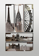 Stainless Steel Bookmarks of London Landmarks / Souvenirs