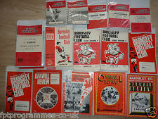 Barnsley  Home Programmes  1960's & 1970's   Select from list