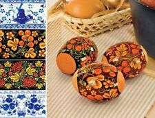Egg Decor for Easter Decoration for Eggs Stickers wirh pattern in Russian style