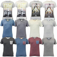 Mens T Shirt Crosshatch 2 Pack NY 55 Short Sleeved Marl Faded Casual Summer New