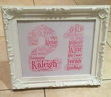 18th 21st 30th 40th 50th 60th Birthday Personalised Gift Unique Present Print