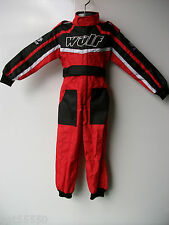 NEW RED WULFSPORT BOY GIRL KIDS OFF ROAD OUTDOOR PLAY SUIT QUAD OVERALLS CHILD