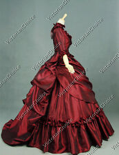 Victorian Bustle Period Dress Ball Gown Theatre Quality Reenactment Clothing 330
