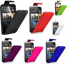 Flip Leather Case Cover & Screen Protector For HTC Desire 820