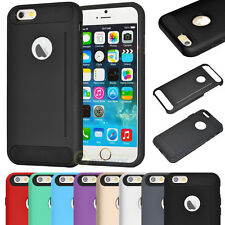 """For iPhone 6 4.7"""" /6 Plus 5.5-inch Tough Hybrid Armor Shockproof Slim Case Cover"""