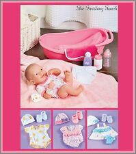 """La Newborn Real Life 14"""" Baby Doll Set & Outfit Sets Blue Pink Yellow NEW"""