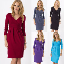 Womens Fashion Pregnant Maternity Pleated Bodycon Evening Party Mini Tunic Dress