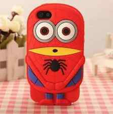 Spiderman Cute Despicable Me Minion Silicone Gel iPhone/iPod Touch Case Cover