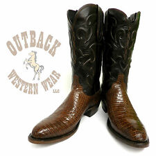 Lucchese Since 1883 Milano Belly Crocodile Boots M1635